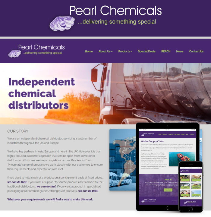 Website for Pearl Chemical