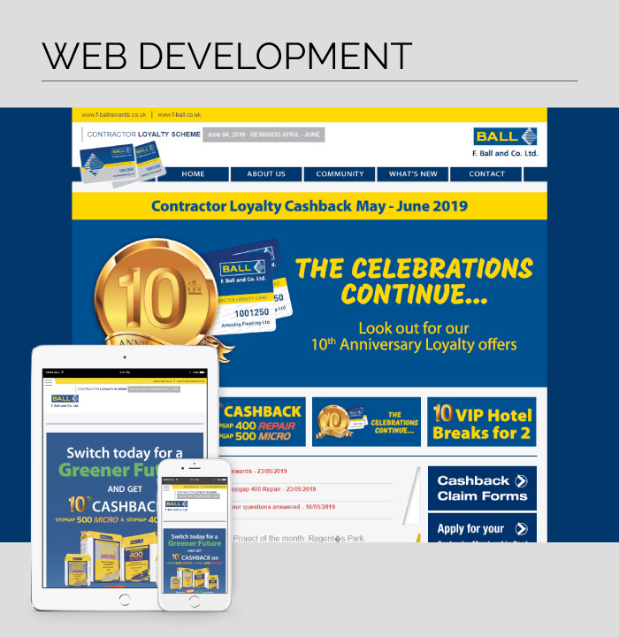 Web Development for the F. Ball and Co. Ltd. Contractor Loyalty Scheme