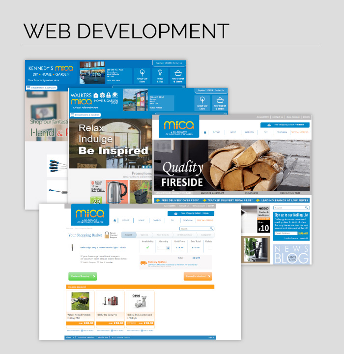 Web Development for Mica, one of the UK's leading hardware retailers.